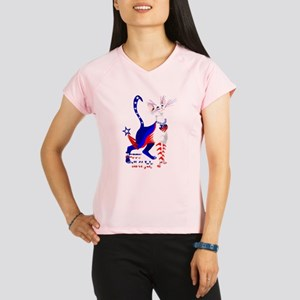 4th Of July American Kitty Shirt Performance Dry T