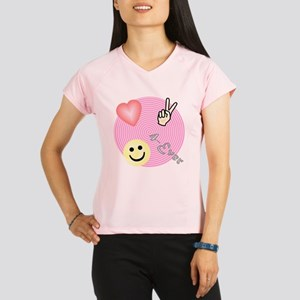 Love Peace and Happiness Performance Dry T-Shirt