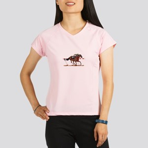 Jockey on Racehorse Performance Dry T-Shirt