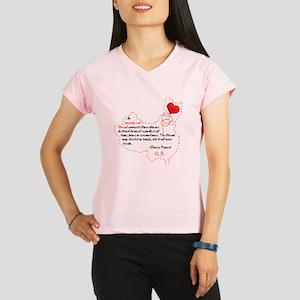 Red Thread on Light Performance Dry T-Shirt
