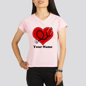 Personalized Nurse Heart Performance Dry T-Shirt