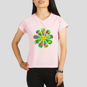 Cool Flower Power Performance Dry T-Shirt