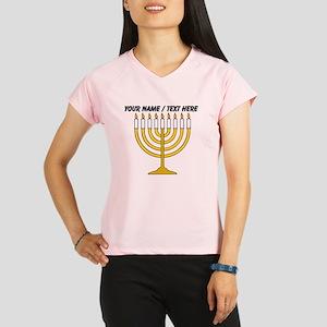 Personalized Menorah Candle Peformance Dry T-Shirt