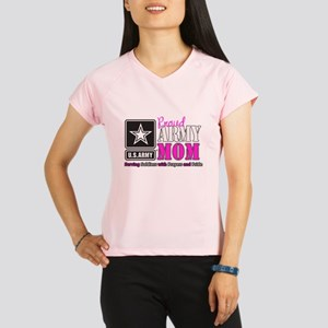 Proud Army Mom Pink Performance Dry T-Shirt