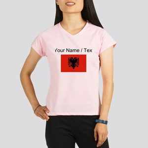 Custom Albania Flag Performance Dry T-Shirt