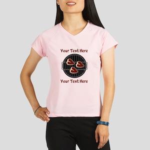 CUSTOM TEXT Meat On BBQ Gr Performance Dry T-Shirt
