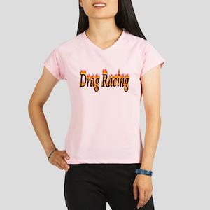 Drag Racing Flame Performance Dry T-Shirt