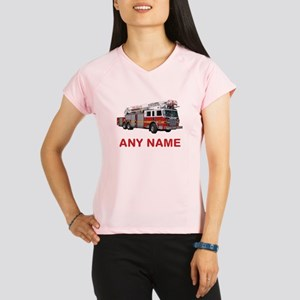 FIRETRUCK with Any Name or Text Performance Dry T-