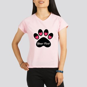Personalizable Paw Print Performance Dry T-Shirt