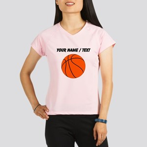 Custom Orange Basketball Performance Dry T-Shirt