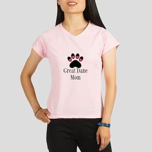 Great Dane Mom Paw Print Performance Dry T-Shirt