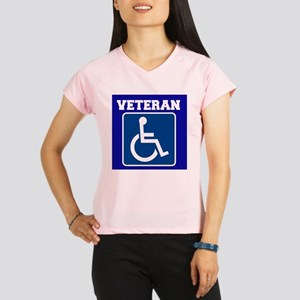 Disabled Handicapped Veteran Performance Dry T-Shi