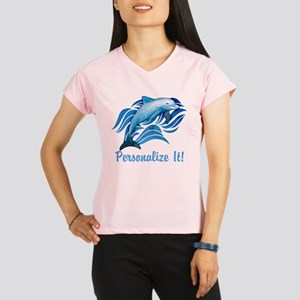 PERSONALIZED Ocean Dolphin Performance Dry T-Shirt