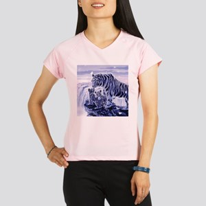 White Tigress And Her Cubs Performance Dry T-Shirt