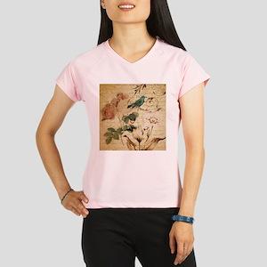 teal bird vintage roses sw Performance Dry T-Shirt