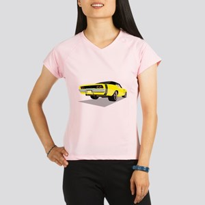 1968 Charger in Yellow wit Performance Dry T-Shirt
