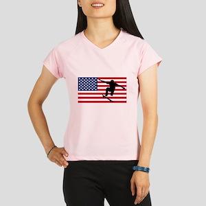 Skateboarding American Flag Performance Dry T-Shir