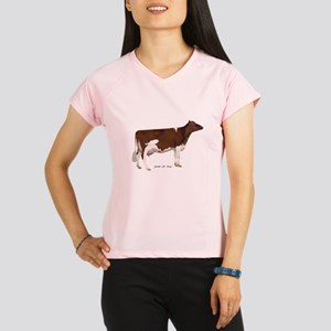 Red and White Holstein Cow Performance Dry T-Shirt