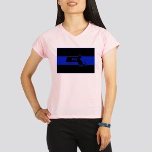 Thin Blue Line - Massachus Performance Dry T-Shirt