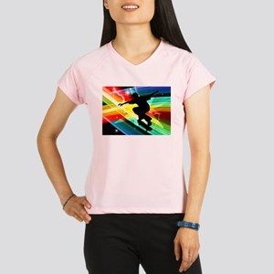 Skateboarder in Criss Cros Performance Dry T-Shirt