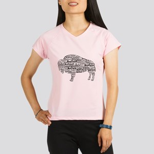 Buffalo Text Performance Dry T-Shirt