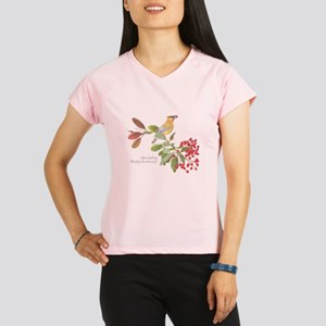 Cedar Waxwing and berries Performance Dry T-Shirt