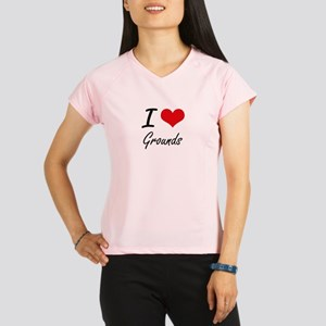 I love Grounds Performance Dry T-Shirt