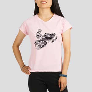 Camouflage Grey Snowmobile Performance Dry T-Shirt