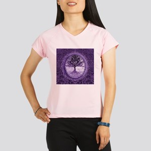 Tree of Life in Purple Performance Dry T-Shirt