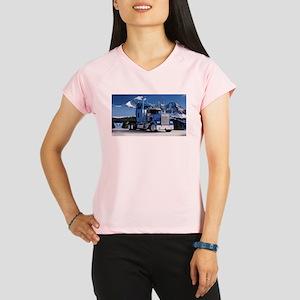 Mountain Blue Kenworth Performance Dry T-Shirt