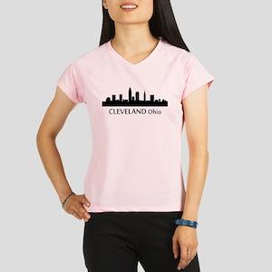Cleveland Cityscape Skyline Performance Dry T-Shir