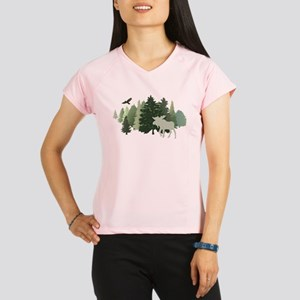 Moose in the Forest Performance Dry T-Shirt