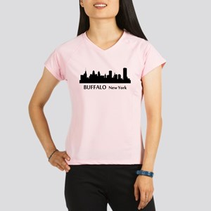Buffalo Cityscape Skyline Performance Dry T-Shirt