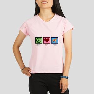 Peace Love Boxer Dog Performance Dry T-Shirt