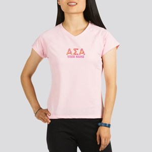 Alpha Sigma Alpha Letters Performance Dry T-Shirt