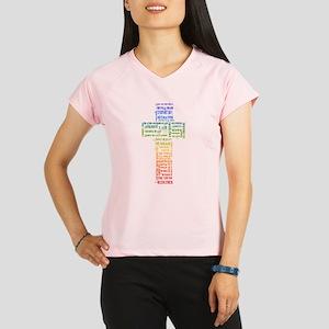 Names of Jesus Cross Performance Dry T-Shirt