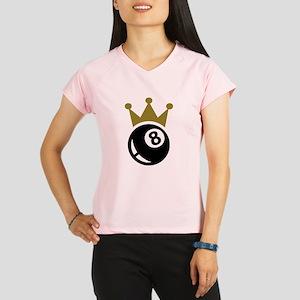 Eight ball billiards crown Performance Dry T-Shirt