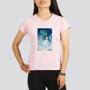 Girl with Moon and Violin Performance Dry T-Shirt