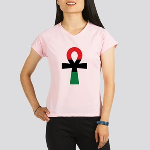 Red, Black & Green Ankh Performance Dry T-Shirt
