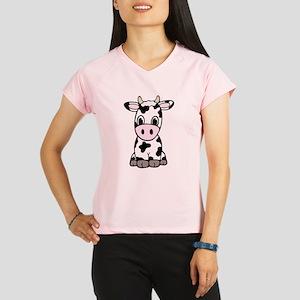 Cute Cartoon Cow Performance Dry T-Shirt