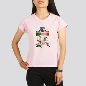 Irish American Celtic Cross Performance Dry T-Shir