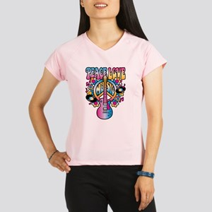 Peace Love & Music Performance Dry T-Shirt