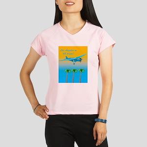 Air Travel Vintage Style Performance Dry T-Shirt
