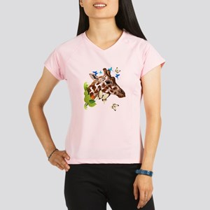 GIRAFFE and BUTTERFLIES Performance Dry T-Shirt