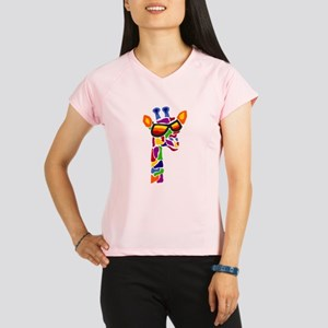 Giraffe in Sunglasses Performance Dry T-Shirt