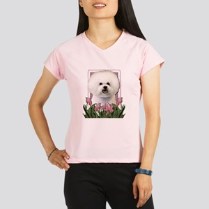 Mothers Day Pink Tulips Bichon Performance Dry T-S