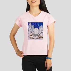 Snowy Owl Digital Art Performance Dry T-Shirt