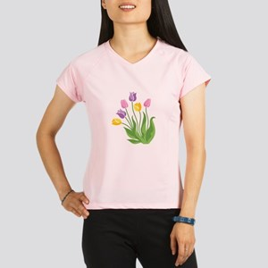 Tulips Plant Performance Dry T-Shirt