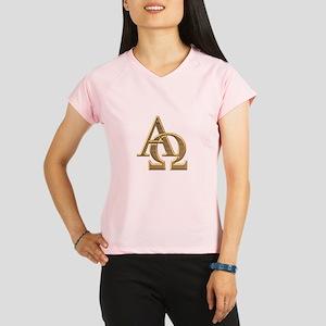 """""""3-D"""" Golden Alpha and Omega Symbol Performance Dr"""