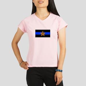 Sheriff Thin Blue Line Performance Dry T-Shirt